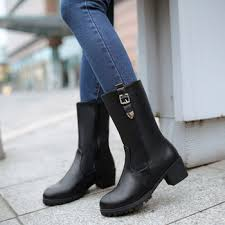 womens boots mid calf autumn winter boots mid calf plus size 35 41