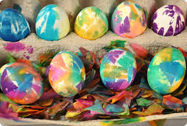 blown easter eggs confetti dyed easter eggs