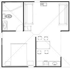 house plan one bedroom bungalow floor admirable plans design ideas
