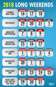bulletin list of 2018 holidays in the philippines deped tambayan ph