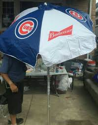 Budweiser Patio Umbrella Cubs Budweiser Patio Umbrella Collectibles In Chicago Il