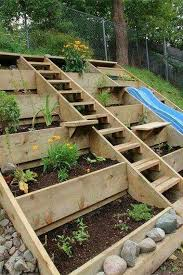 Landscaping Ideas Hillside Backyard Creative Diy Solution For A Hilly Or Uneven Backyard To Plant