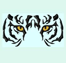 tiger embroidery designs 6 sizes instant embroidery