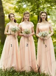 bridesmaid gowns pd16035 blush colored chiffon bridesmaid dress prom dress