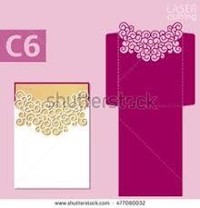 wedding invitation card template lace folds studio v3 svg dxf