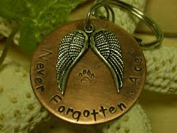 remembrance keychain copper handsted pet memorial remembrance keychain never