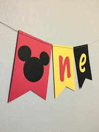 Mickey Mouse Chair by Mickey Mouse High Chair Banner 1st Birthday Banner Mickey