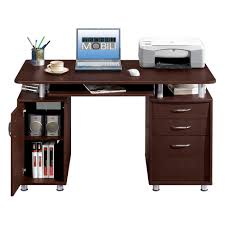 Desk With Printer Storage Techni Mobili Complete Computer Workstation With Cabinet And