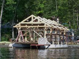 gmtf takes timber framing to the water the boat house project