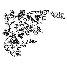 naklejka na ścianę ornament motyw roå linny szkło lustra