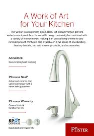 pfister venturi single handle pull down sprayer kitchen faucet