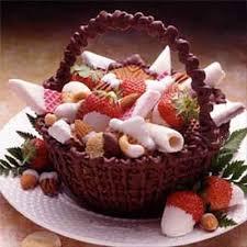 chocolate basket chocolate basket recipe land o lakes