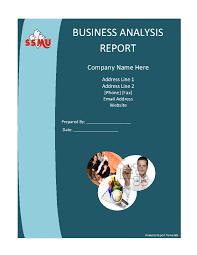 simple business report template simple market analysis report template in word format thogati