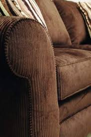 Corduroy Sectional Sofa A Chocolate Brown Wide Wale Corduroy Sofa Has Three Semi Attached