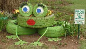 ideas diy lovely frog garden decor from tires