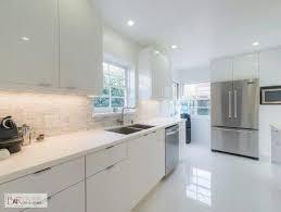 Glossy White Kitchen Cabinets Glossy White Flat Panel Kitchen Cabinet Kitchen Beeman Ave