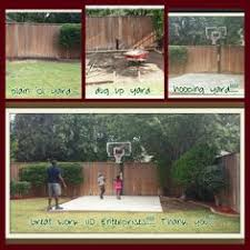 Concrete Ideas For Backyard Backyard Basketball On A Concrete Slab Well Done Basketball
