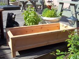 Backyard Planter Box Ideas Large Cedar Wood Raised Garden Planter Boxes With Legs For Deck Or