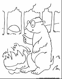 Stunning Groundhog Coloring Page Sun With Groundhog Coloring Pages Groundhog Color Page