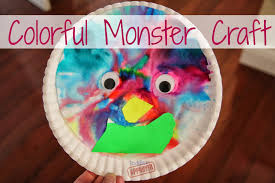 halloween paper plate crafts toddler approved colorful paper plate monster craft