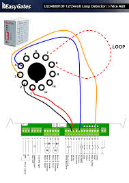 12 24 volt loop detector to nice a60 control board