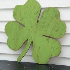 wooden leaves wall shamrock wood sign lucky four leaf clover st s day wall