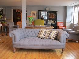 Linen Chesterfield Sofa by 19th Century English Chesterfield Sofa Sofas Armchairs