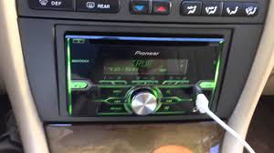jaguar x type radio install with pioneer fh x720bt