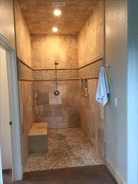 Open Showers No Doors Open Shower Bathroom Design Simple Kitchen Detail