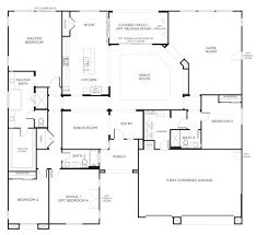 one level house plans with garage bedroom walkout basement free