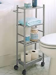 Bathroom Storage Cart Slim Metal Cart Small Rolling Cart Bathroom Storage