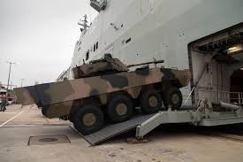 amphibious vehicle military armoured vehicles put to the test on canberra navy daily