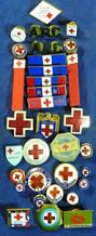 vintage red cross enamel military pins ww11 by neatstuffantiques
