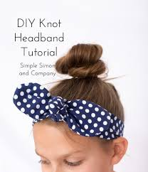 knotted headband diy knot headband tutorial simple simon and company