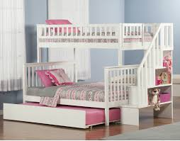 Plans For Bunk Bed With Trundle by Bunk Beds Twin Over Full Bunk Bed With Stairs And Trundle Twin