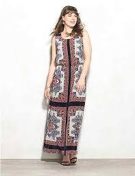 plus size pleated scarf print maxi dress dressbarn