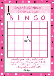card bridal shower bingo card template