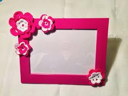 cornici fatte a mano cornice portafoto rosa bambina con decorazioni fatte a mano all