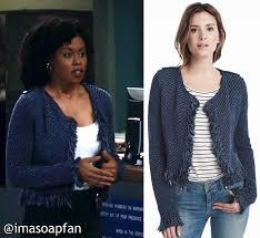 black fringe sweater ashford s blue fringe sweater jacket general hospital