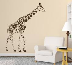 children 39 s bedroom art promotion shop for promotional d308 sale large giraffe wall stickers animal decal art children s bedroom decor black mural for nursery kids room home decor