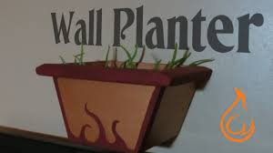 make a wall mounted planter hanging flower pot youtube