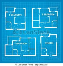 blueprint floor plan vector clip of apartment floor plan set blueprint vector
