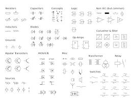 iec schematic diagram symbols component libraries symbol
