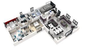 plan maison en l 4 chambres plan maison moderne 100m2 8 plan de maison 3d 4 chambres modern