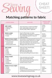136 best sewing do s don ts images on pinterest sewing ideas a handy cheat sheet for matching your dressmaking patterns to the right fabric achieving the