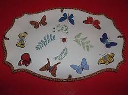 butterfly serving platter butterfly paradise serving tray platter 19 5 ladybugs