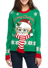 meowy christmas sweater new directions meowy christmas sweater belk
