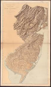 Nj Path Map Physical Map Of New Jersey Craft Ideas Pinterest Lakes