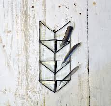 air planter air plant wall holder stained glass arrow glass