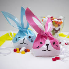 easter bags easter bunny sweet bags set of 8 bags pink and blue gift bags